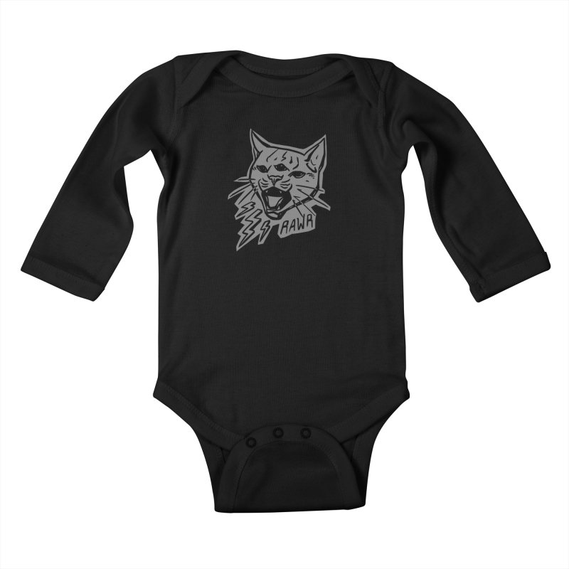 THUNDERCAT HOOOO! Reverse Kids Baby Longsleeve Bodysuit by Bull City Roller Derby Shop