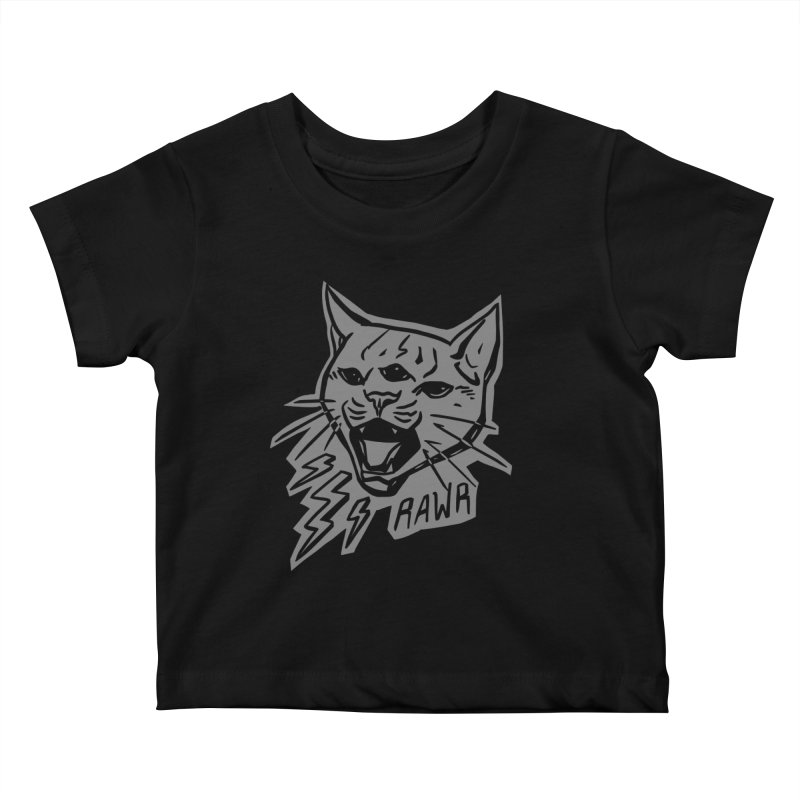 THUNDERCAT HOOOO! Reverse Kids Baby T-Shirt by Bull City Roller Derby Shop
