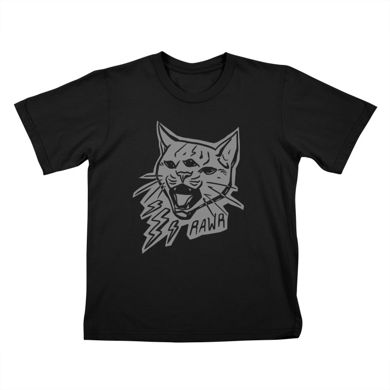 THUNDERCAT HOOOO! Reverse Kids T-Shirt by Bull City Roller Derby Shop