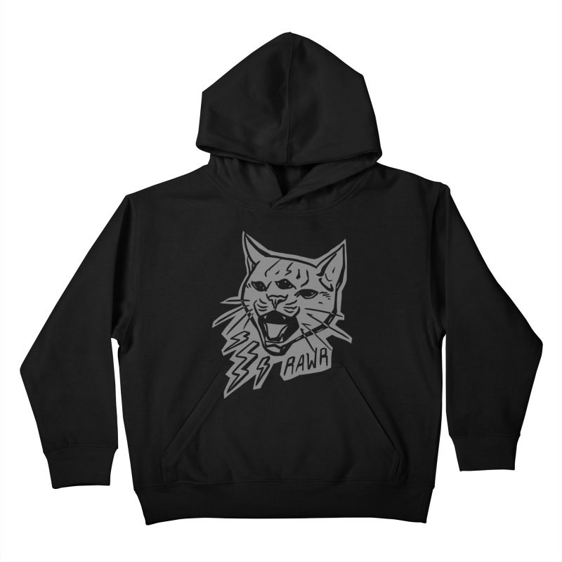 THUNDERCAT HOOOO! Reverse Kids Pullover Hoody by Bull City Roller Derby Shop