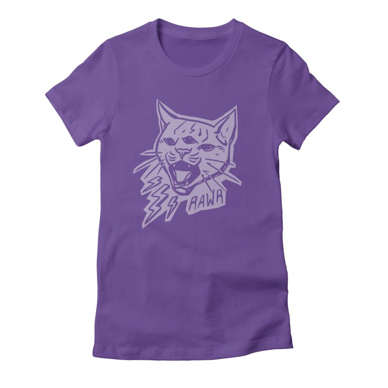 THUNDERCAT HOOOO! Reverse Women's Fitted T-Shirt by Bull City Roller Derby Shop