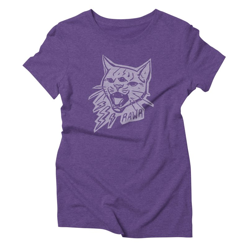 THUNDERCAT HOOOO! Reverse Women's Triblend T-Shirt by Bull City Roller Derby Shop