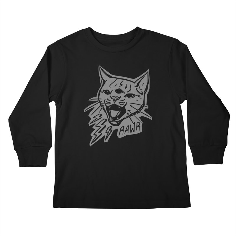 THUNDERCAT HOOOO! Reverse Kids Longsleeve T-Shirt by Bull City Roller Derby Shop