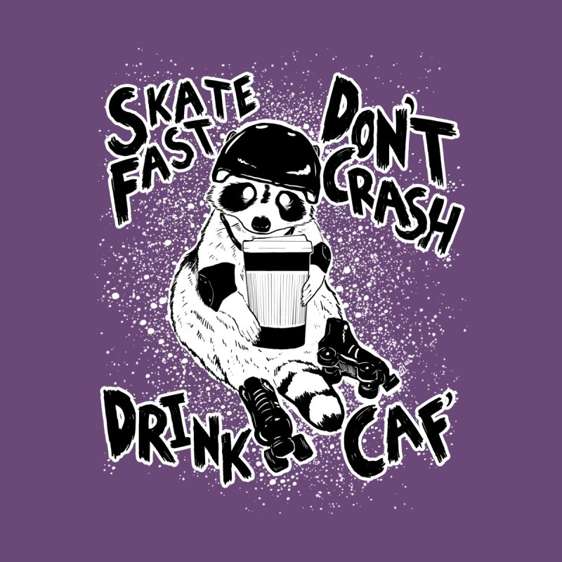 Skate Fast | Don't Crash |  Drink Caf! Women's V-Neck by Bull City Roller Derby Shop