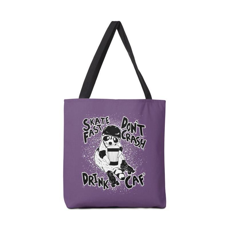 Skate Fast | Don't Crash |  Drink Caf! Accessories Bag by Bull City Roller Derby Shop