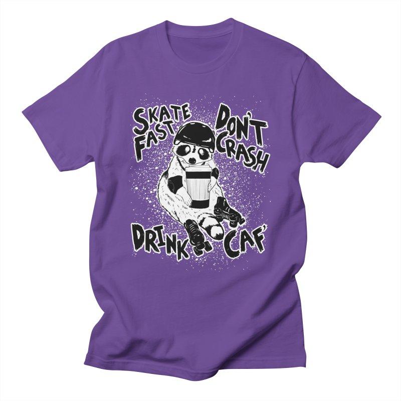 Skate Fast | Don't Crash |  Drink Caf! Men's T-Shirt by Bull City Roller Derby Shop