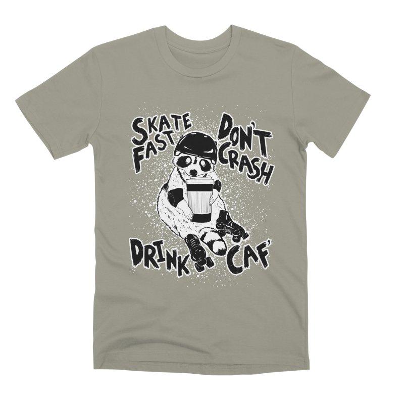 Skate Fast | Don't Crash |  Drink Caf! Men's Premium T-Shirt by Bull City Roller Derby Shop