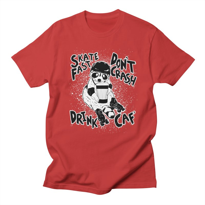 Skate Fast | Don't Crash |  Drink Caf! Men's T-Shirt by Bull City Roller Derby Shop