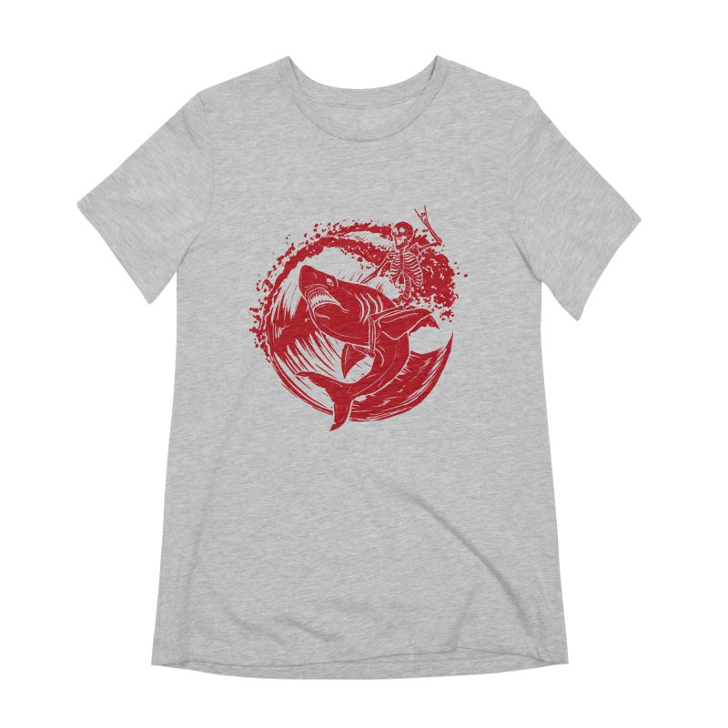 SURF'S UP Women's Extra Soft T-Shirt by Bull City Roller Derby Shop