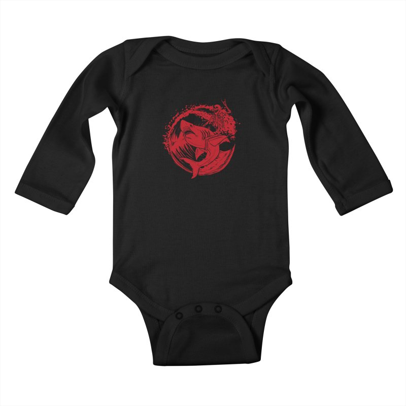 SURF'S UP Kids Baby Longsleeve Bodysuit by Bull City Roller Derby Shop