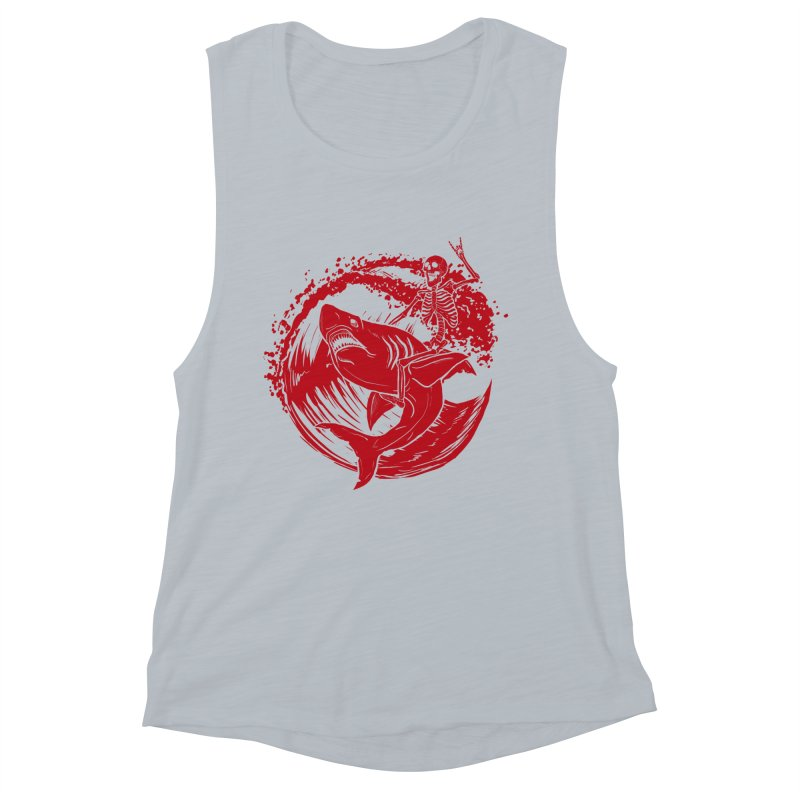 SURF'S UP Women's Muscle Tank by Bull City Roller Derby Shop