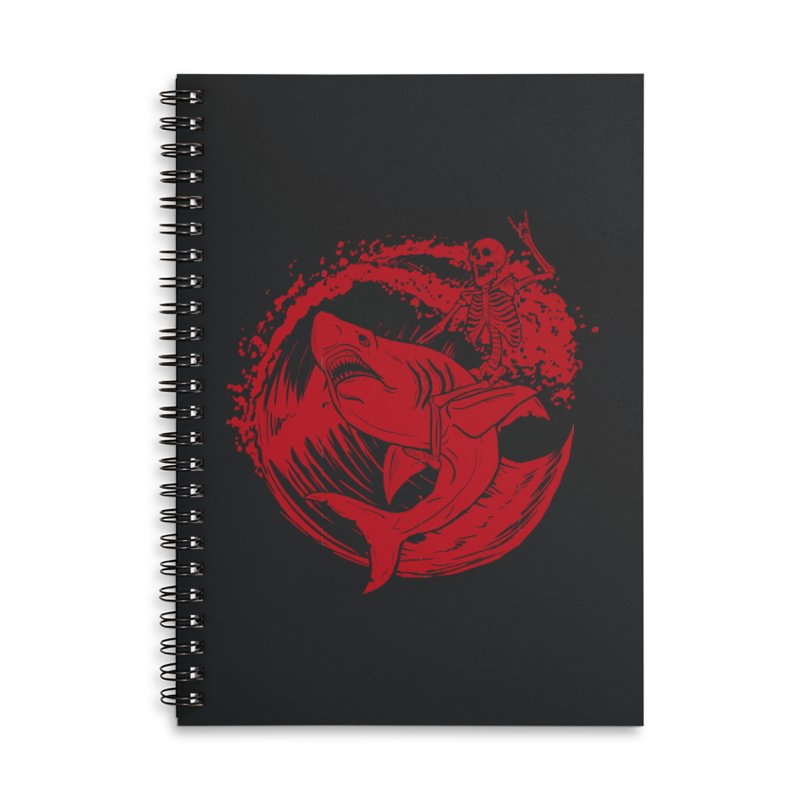 SURF'S UP Accessories Lined Spiral Notebook by Bull City Roller Derby Shop
