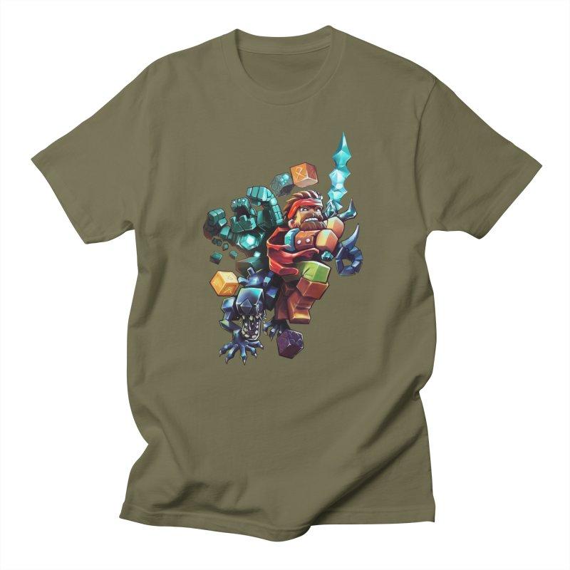 BDcraft Hero, Golem and Alien Men's T-Shirt by BDcraft Shop