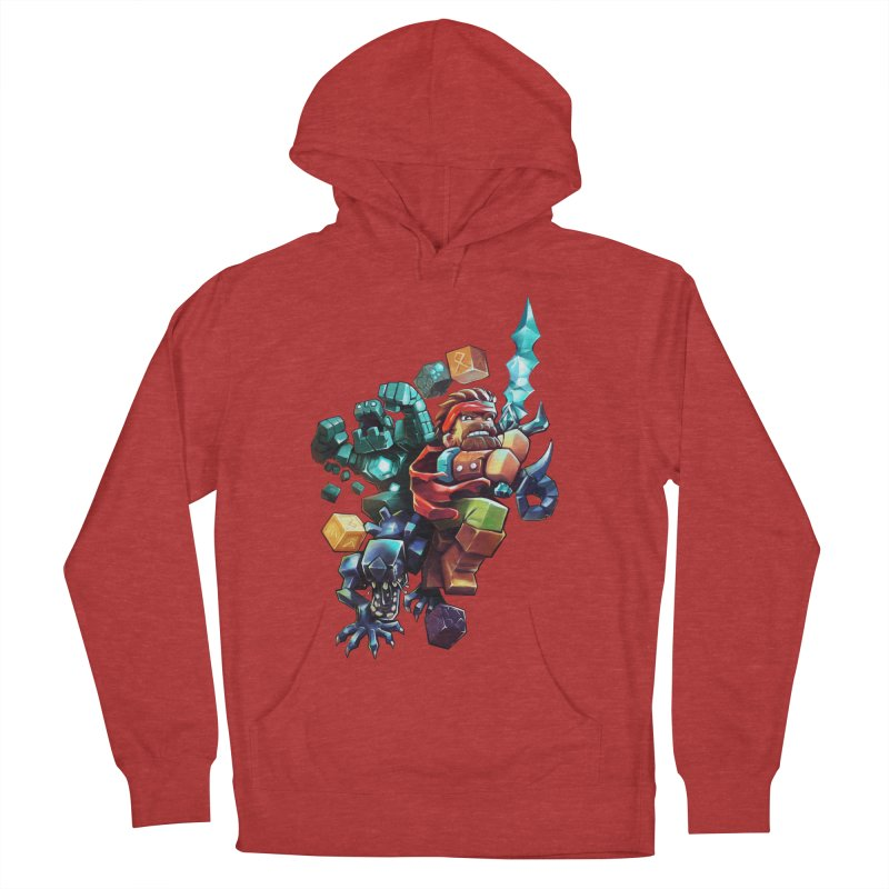 BDcraft Hero, Golem and Alien Women's French Terry Pullover Hoody by BDcraft Shop
