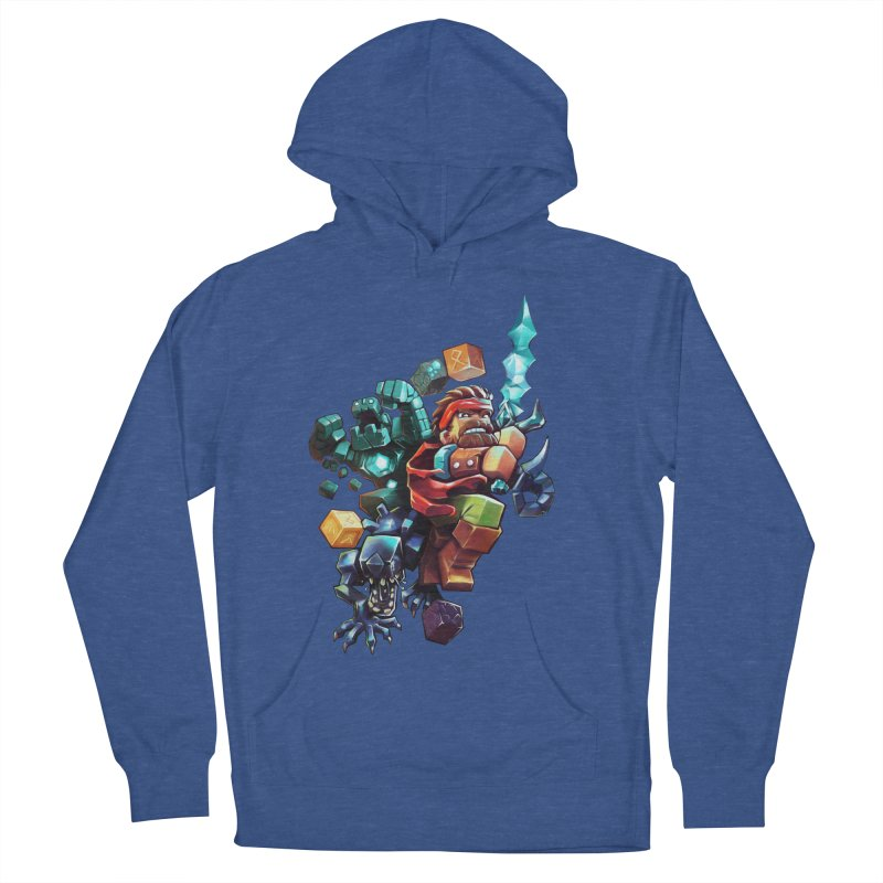 BDcraft Hero, Golem and Alien Men's French Terry Pullover Hoody by BDcraft Shop