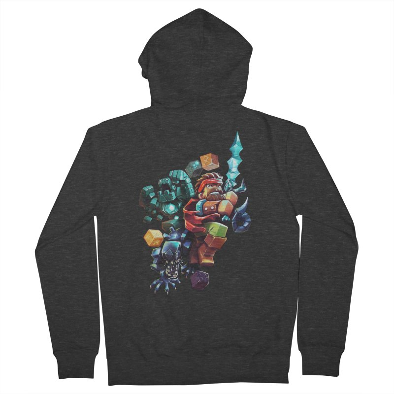 BDcraft Hero, Golem and Alien Women's French Terry Zip-Up Hoody by BDcraft Shop