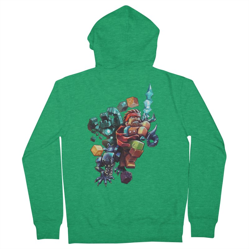 BDcraft Hero, Golem and Alien Men's Zip-Up Hoody by BDcraft Shop