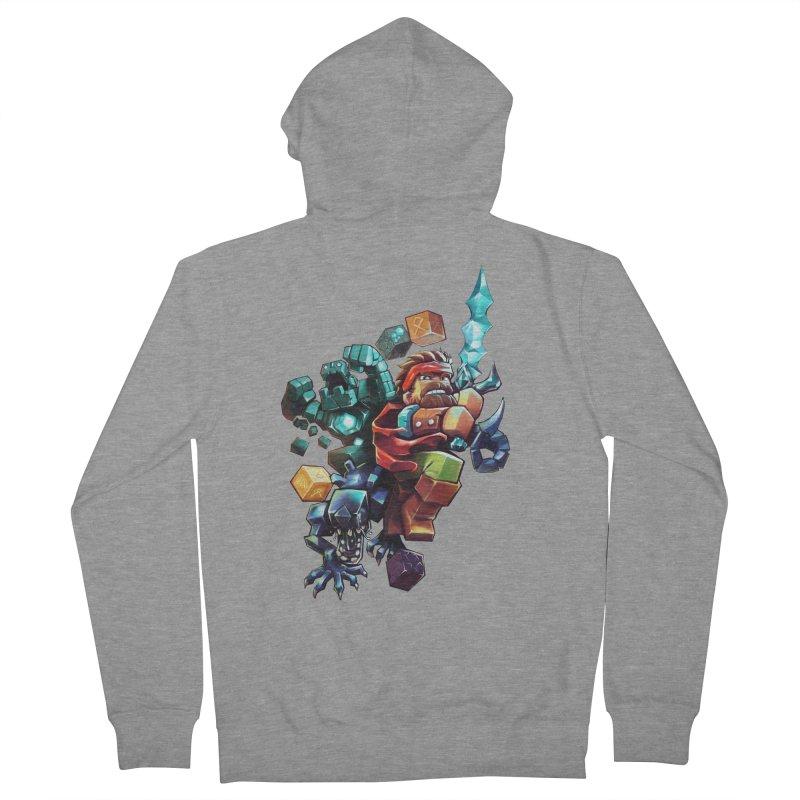BDcraft Hero, Golem and Alien Men's French Terry Zip-Up Hoody by BDcraft Shop
