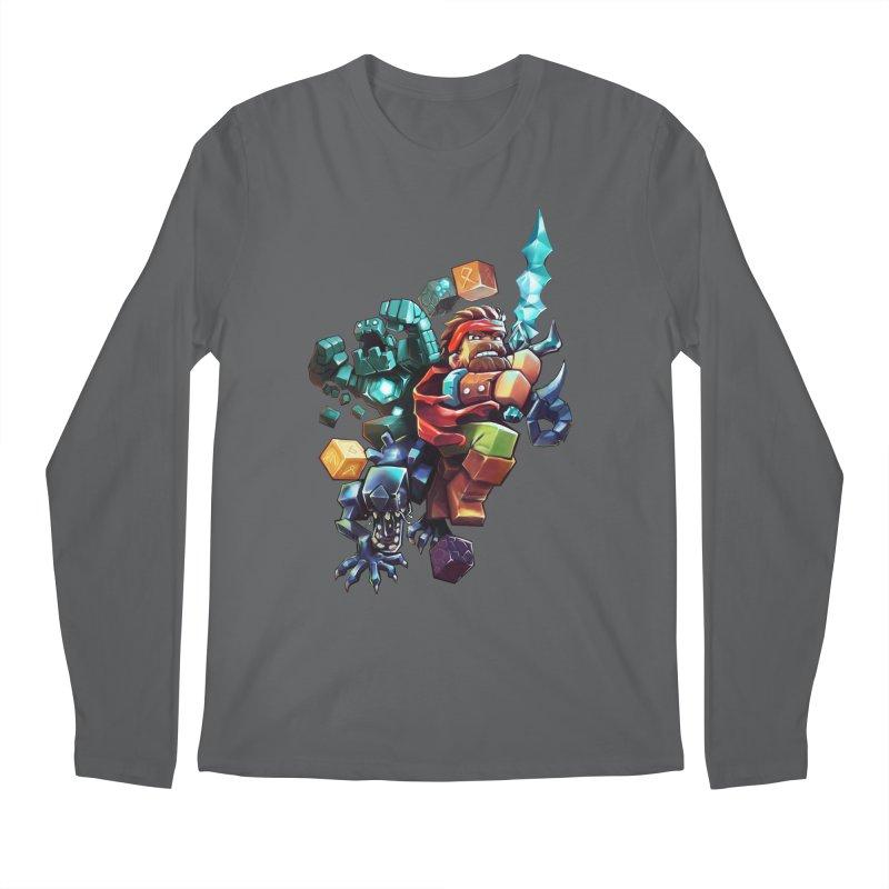 BDcraft Hero, Golem and Alien Men's Longsleeve T-Shirt by BDcraft Shop