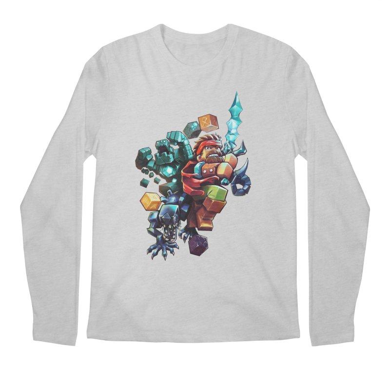 BDcraft Hero, Golem and Alien Men's Regular Longsleeve T-Shirt by BDcraft Shop