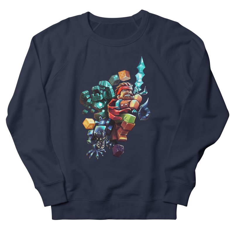 BDcraft Hero, Golem and Alien Women's French Terry Sweatshirt by BDcraft Shop