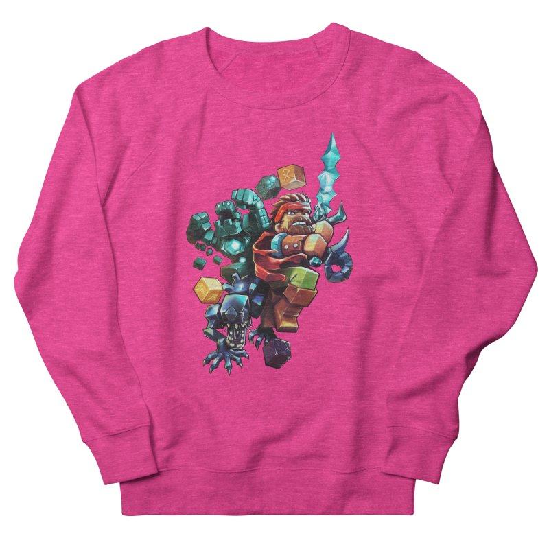 BDcraft Hero, Golem and Alien Men's French Terry Sweatshirt by BDcraft Shop