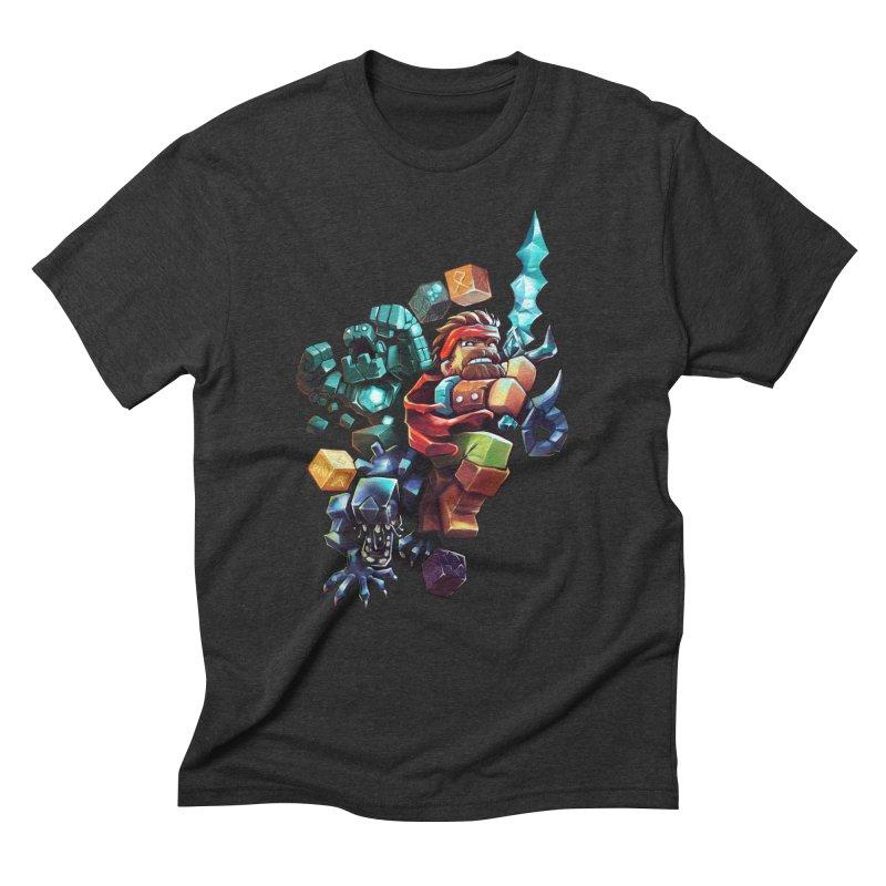 BDcraft Hero, Golem and Alien Men's Triblend T-Shirt by BDcraft Shop
