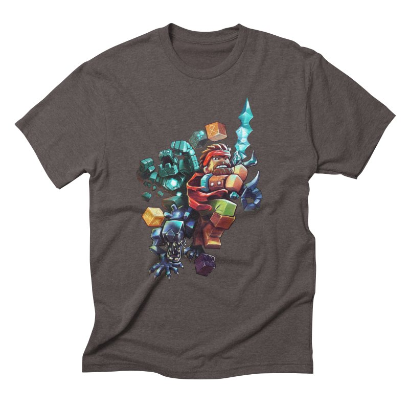 BDcraft Hero, Golem and Alien Men's Triblend T-Shirt by BDcraft Shop