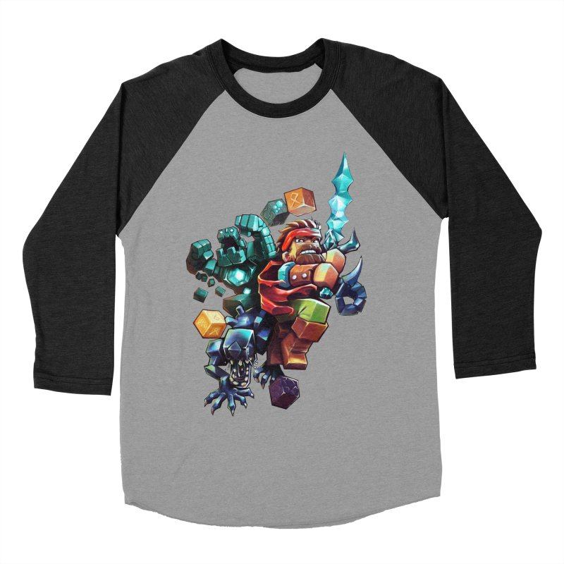 BDcraft Hero, Golem and Alien Women's Baseball Triblend Longsleeve T-Shirt by BDcraft Shop