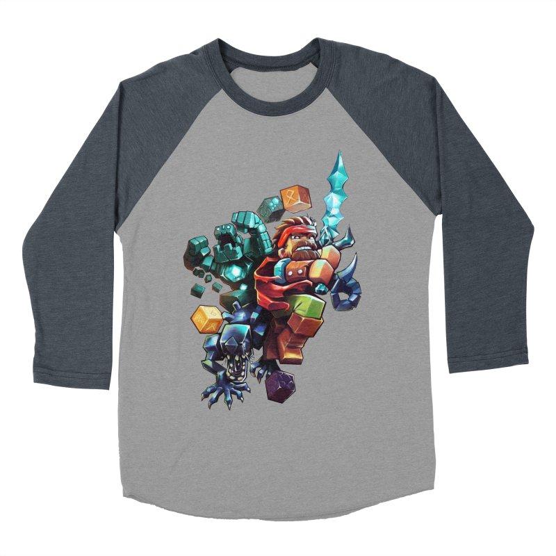 BDcraft Hero, Golem and Alien Men's Baseball Triblend Longsleeve T-Shirt by BDcraft Shop