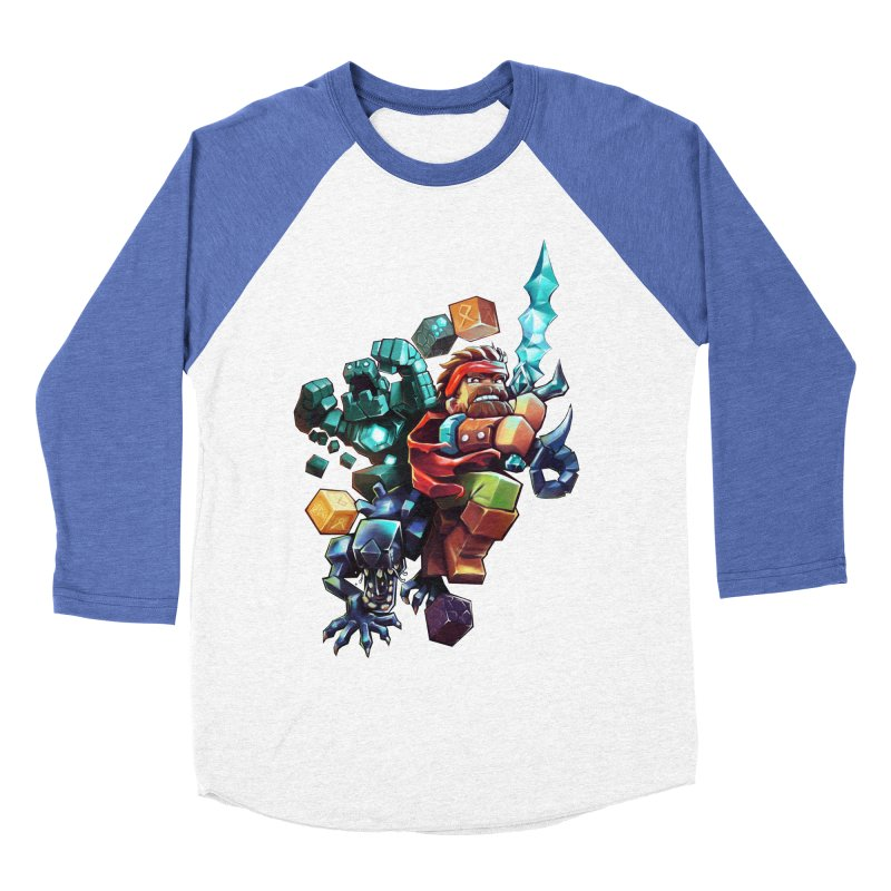 BDcraft Hero, Golem and Alien Men's Baseball Triblend Longsleeve T-Shirt by BDcraft Shop
