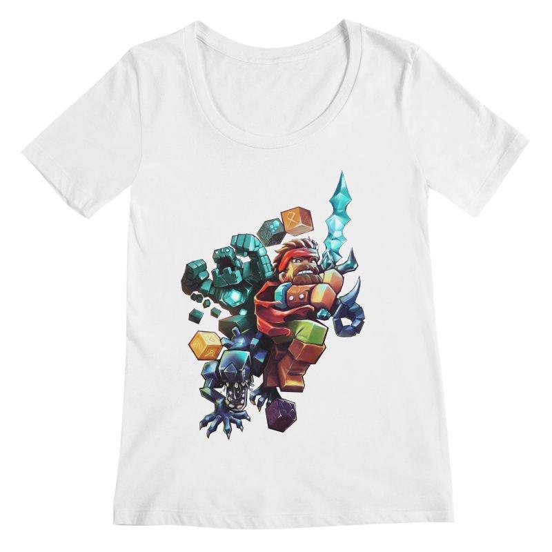 BDcraft Hero, Golem and Alien Women's Regular Scoop Neck by BDcraft Shop