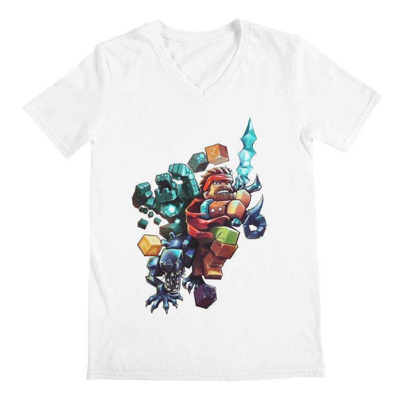 BDcraft Hero, Golem and Alien Men's V-Neck by BDcraft Shop