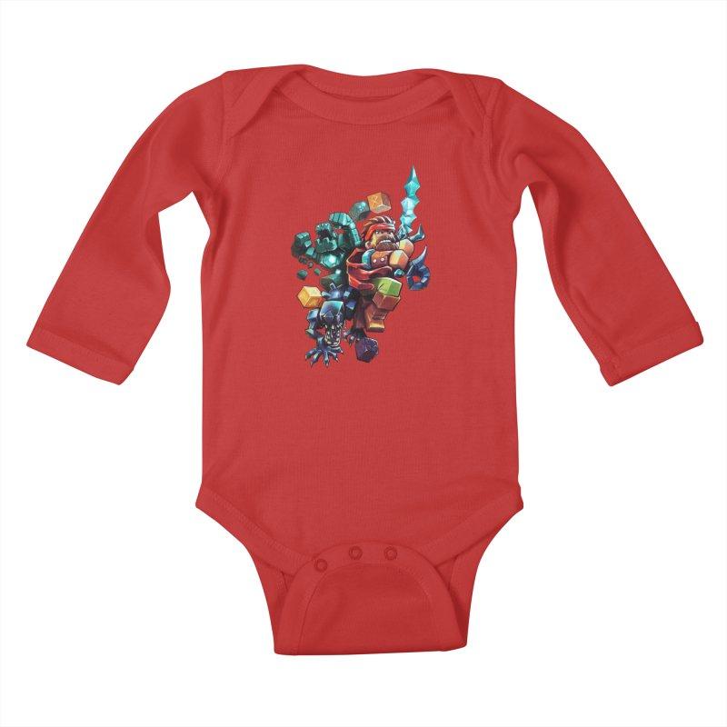 BDcraft Hero, Golem and Alien Kids Baby Longsleeve Bodysuit by BDcraft Shop