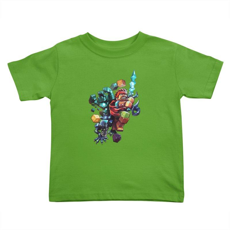 BDcraft Hero, Golem and Alien Kids Toddler T-Shirt by BDcraft Shop