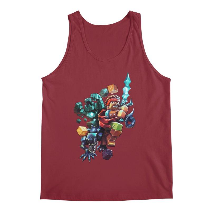 BDcraft Hero, Golem and Alien Men's Regular Tank by BDcraft Shop