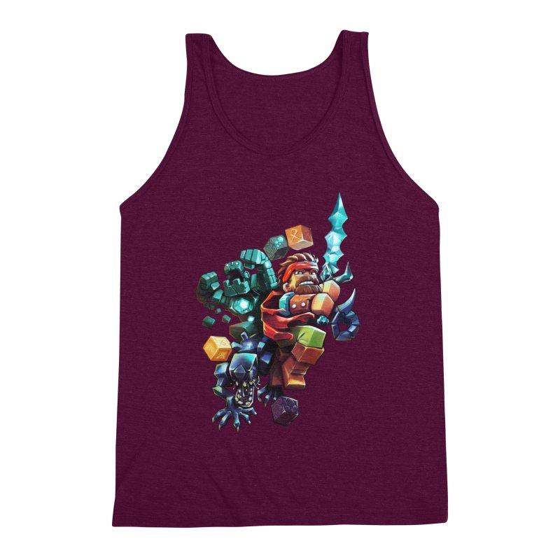 BDcraft Hero, Golem and Alien Men's Triblend Tank by BDcraft Shop