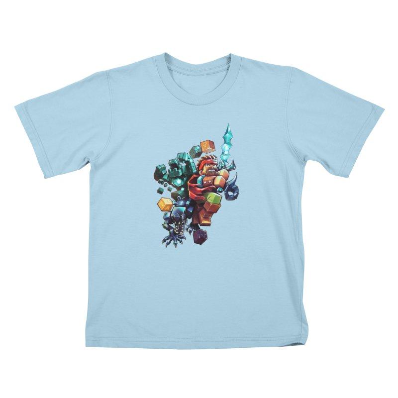 BDcraft Hero, Golem and Alien Kids T-Shirt by BDcraft Shop