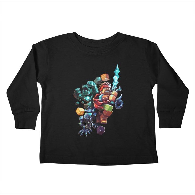 BDcraft Hero, Golem and Alien Kids Toddler Longsleeve T-Shirt by BDcraft Shop