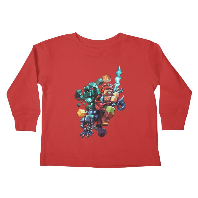BDcraft Hero, Golem and Alien Kids Toddler Longsleeve T-Shirt by BDcraft Shop