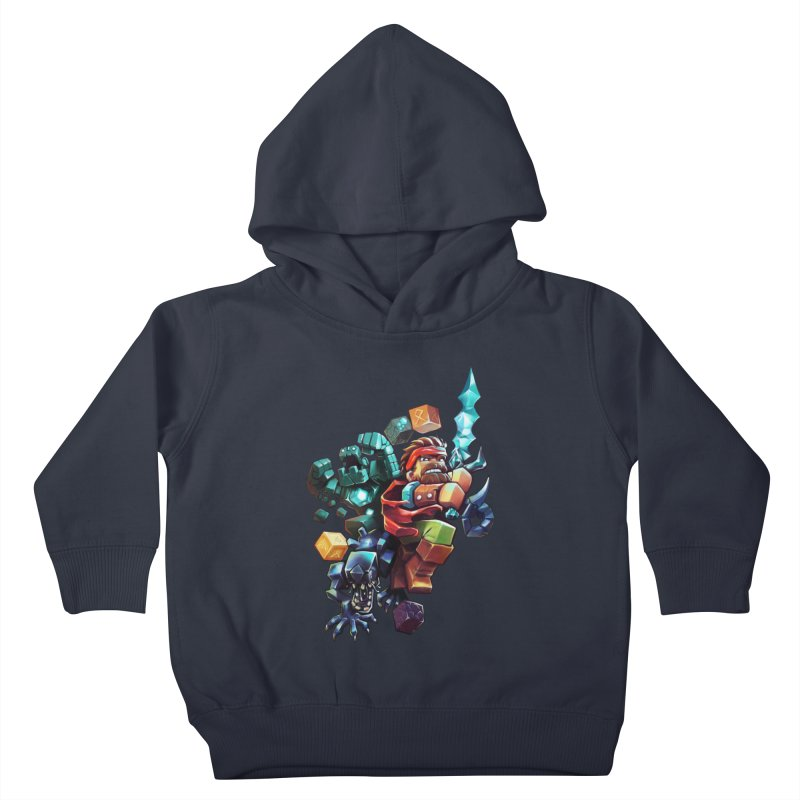 BDcraft Hero, Golem and Alien Kids Toddler Pullover Hoody by BDcraft Shop