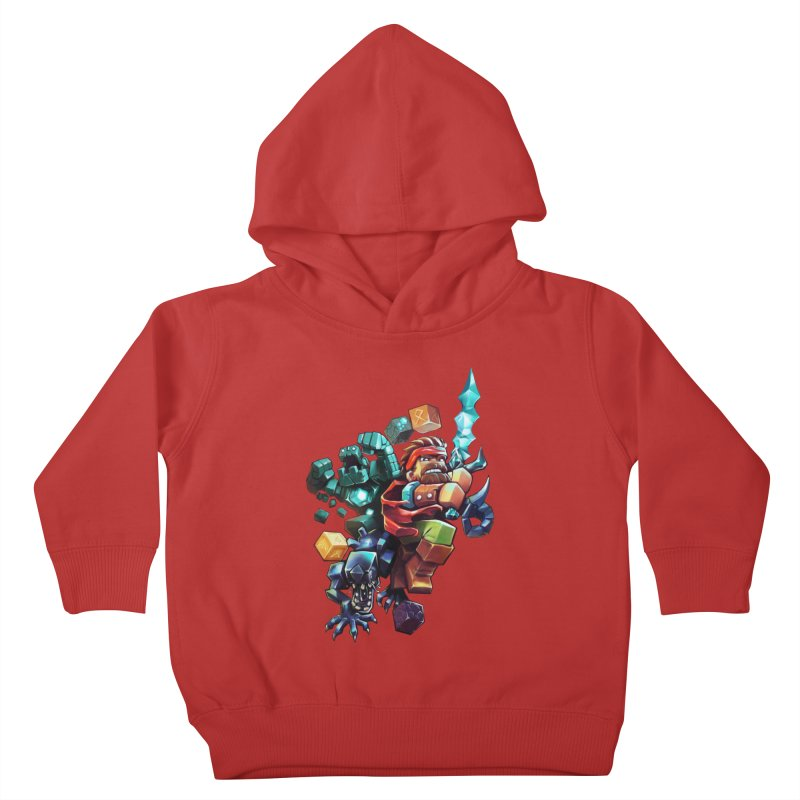 BDcraft Hero, Golem and Alien Kids Toddler Pullover Hoody by BDcraft Shop
