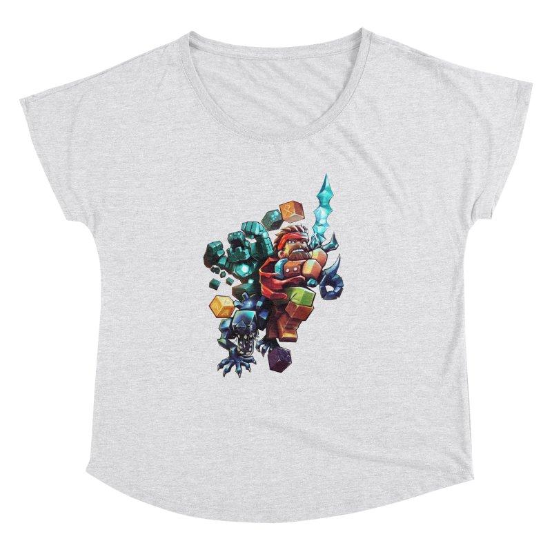 BDcraft Hero, Golem and Alien Women's Dolman Scoop Neck by BDcraft Shop