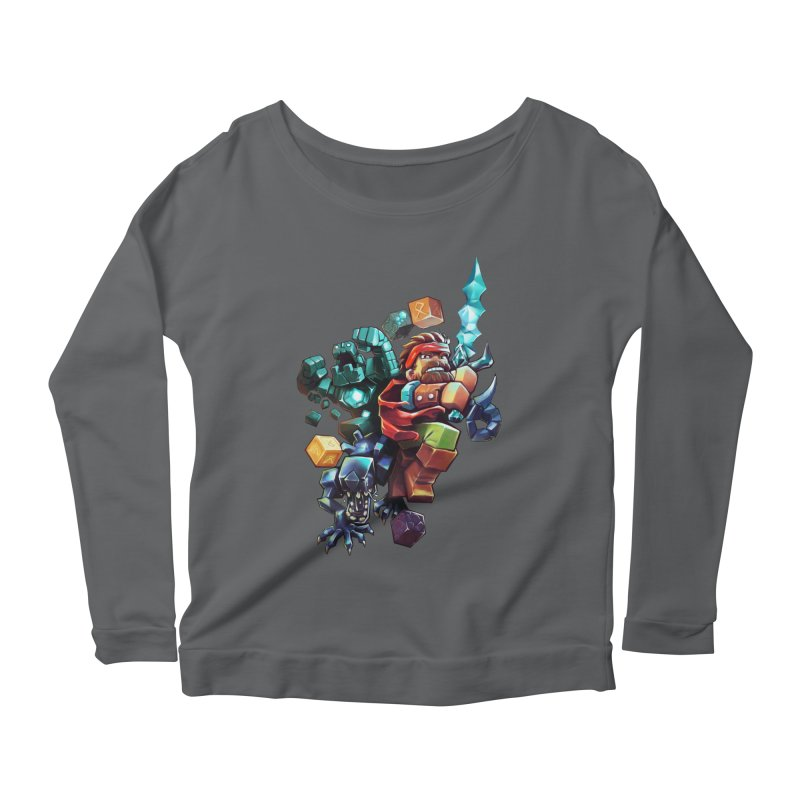 BDcraft Hero, Golem and Alien Women's Scoop Neck Longsleeve T-Shirt by BDcraft Shop