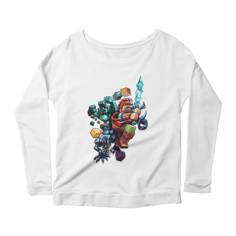 BDcraft Hero, Golem and Alien Women's Scoop Neck Longsleeve T-Shirt by BDcraft Shop
