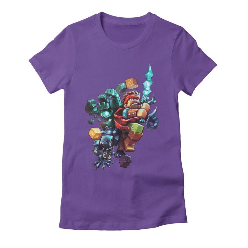 BDcraft Hero, Golem and Alien Women's Fitted T-Shirt by BDcraft Shop