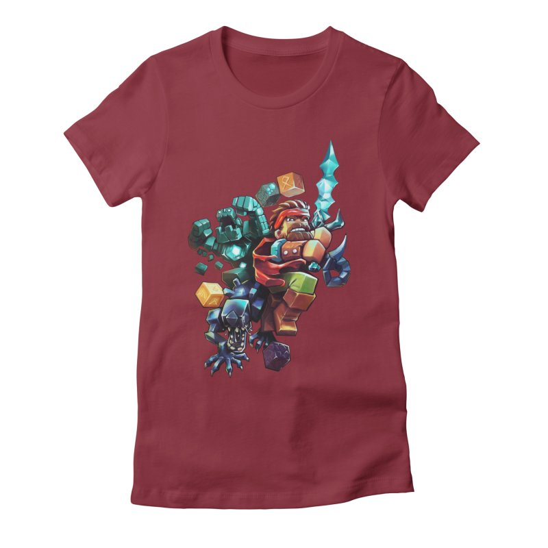 BDcraft Hero, Golem and Alien Women's Fitted T-Shirt by BDcraft Shop