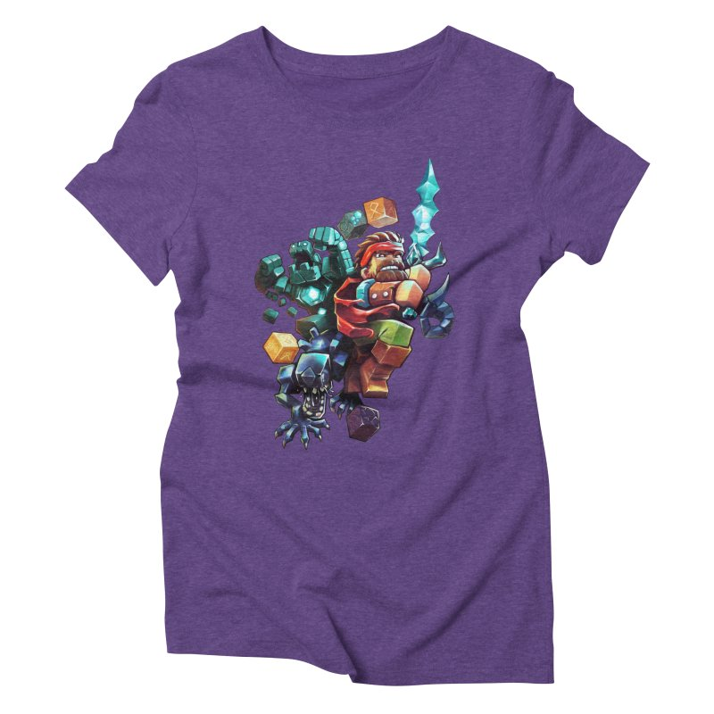 BDcraft Hero, Golem and Alien Women's Triblend T-Shirt by BDcraft Shop
