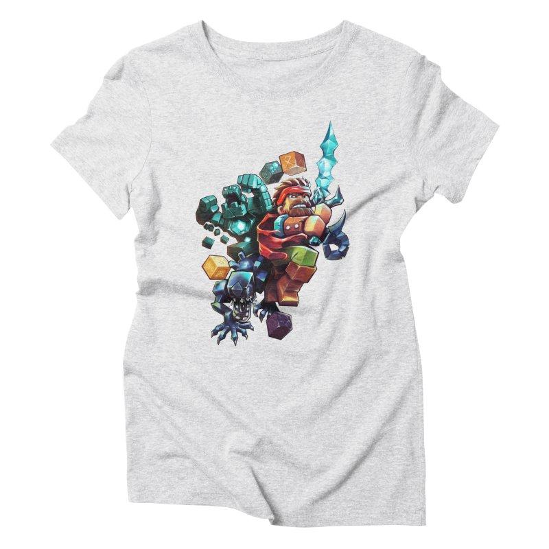 BDcraft Hero, Golem and Alien Women's Triblend T-Shirt by BDcraft Shop
