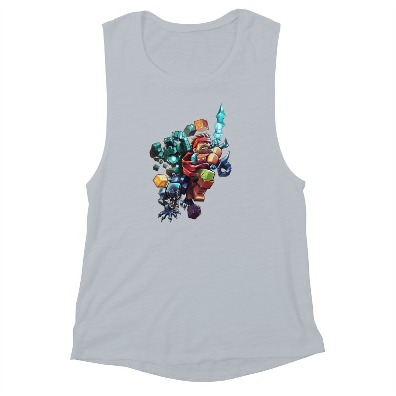 BDcraft Hero, Golem and Alien Women's Muscle Tank by BDcraft Shop